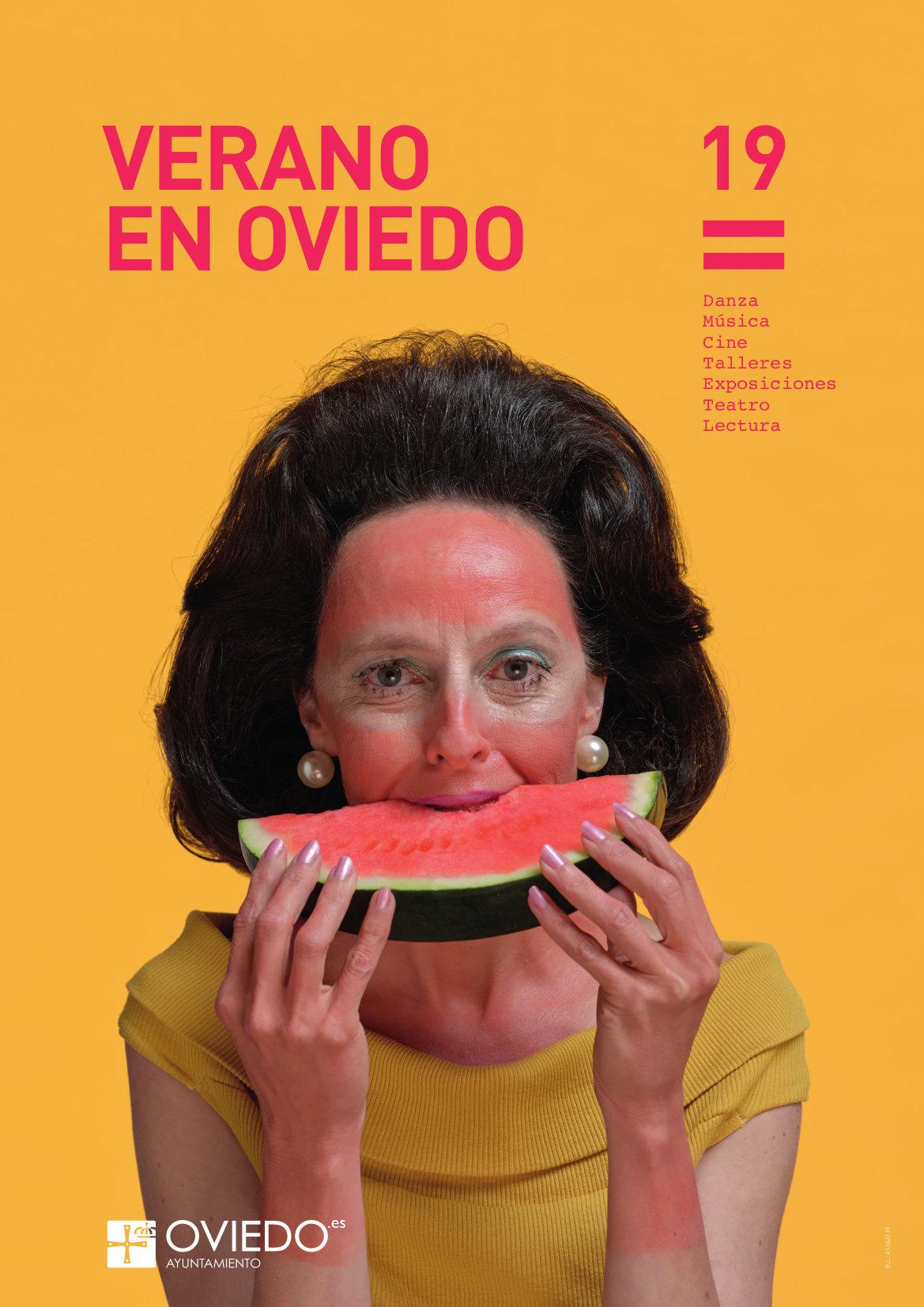 """Cartel del programa """"Verano en Oviedo 2019"""""""