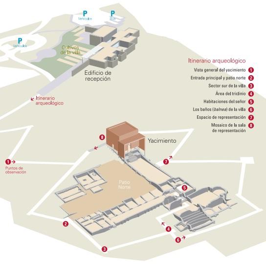 Plano Villa Romana de Veranes