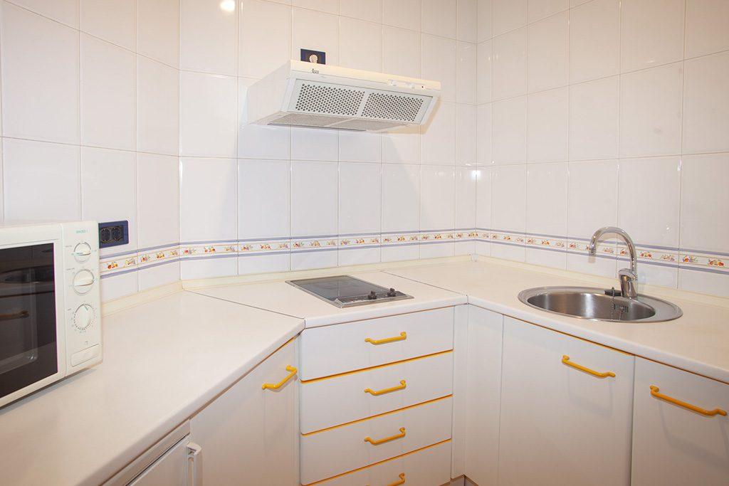 Cocina estudio Aparthotel Campus Oviedo