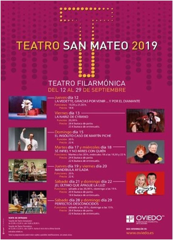 Cartel teatro en San Mateo