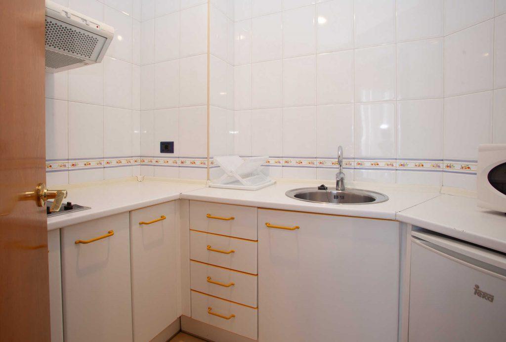 Cocina Apartamento Aparthotel Campus Oviedo