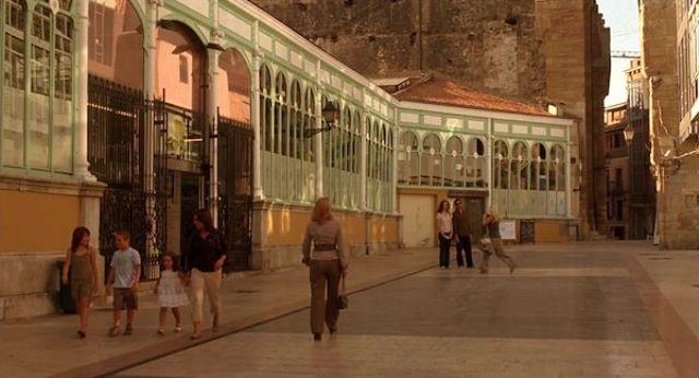 Escena de la película Vicky Cristina Barcelona rodada en Oviedo